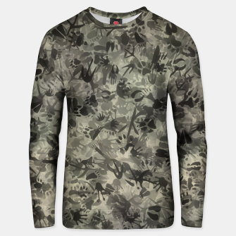 Thumbnail image of Animal footprints camouflage Unisex sweater, Live Heroes