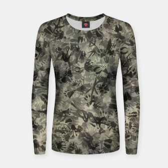 Thumbnail image of Animal footprints camouflage Women sweater, Live Heroes
