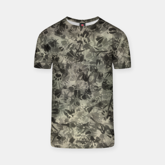 Thumbnail image of Animal footprints camouflage T-shirt, Live Heroes