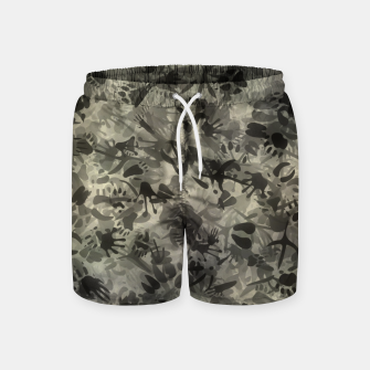 Thumbnail image of Animal footprints camouflage Swim Shorts, Live Heroes
