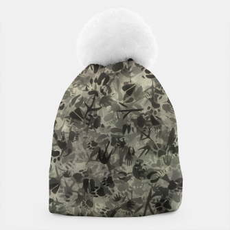 Thumbnail image of Animal footprints camouflage Beanie, Live Heroes