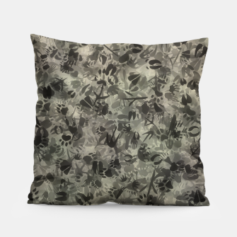 Thumbnail image of Animal footprints camouflage Pillow, Live Heroes