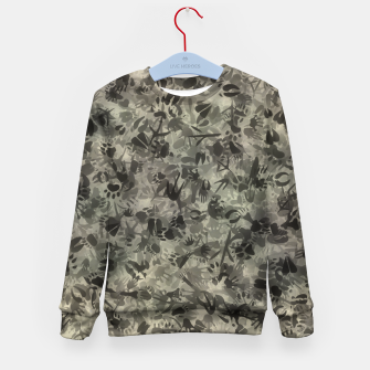 Thumbnail image of Animal footprints camouflage Kid's sweater, Live Heroes