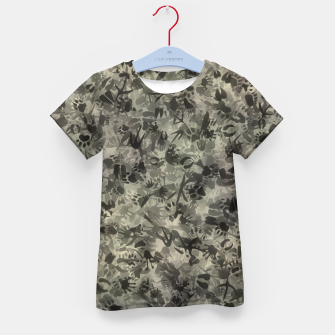 Thumbnail image of Animal footprints camouflage Kid's t-shirt, Live Heroes