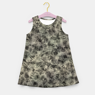 Thumbnail image of Animal footprints camouflage Girl's summer dress, Live Heroes