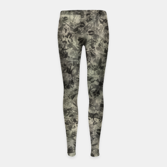 Thumbnail image of Animal footprints camouflage Girl's leggings, Live Heroes