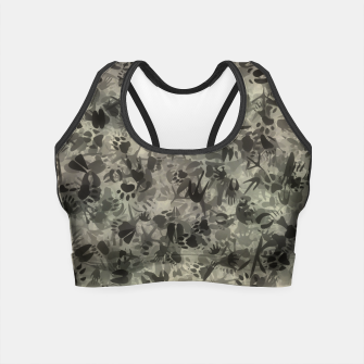 Thumbnail image of Animal footprints camouflage Crop Top, Live Heroes