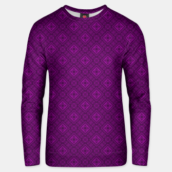 Thumbnail image of Geometric pattern purple fashionable elegant dark ornamental print Unisex sweater, Live Heroes