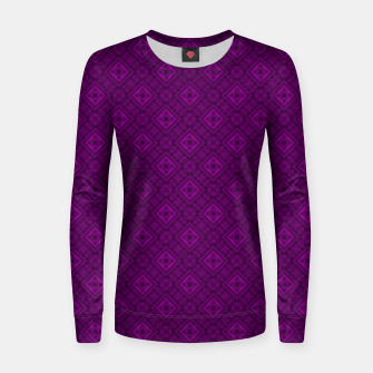 Thumbnail image of Geometric pattern purple fashionable elegant dark ornamental print Women sweater, Live Heroes