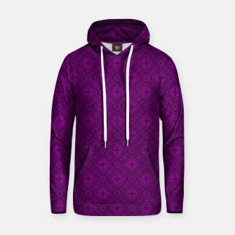 Thumbnail image of Geometric pattern purple fashionable elegant dark ornamental print Hoodie, Live Heroes