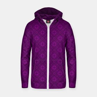 Thumbnail image of Geometric pattern purple fashionable elegant dark ornamental print Zip up hoodie, Live Heroes