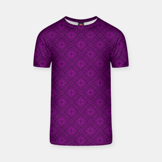 Thumbnail image of Geometric pattern purple fashionable elegant dark ornamental print T-shirt, Live Heroes