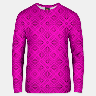 Thumbnail image of Neon bright ornamental pink pattern decoration summer  Unisex sweater, Live Heroes