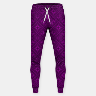 Thumbnail image of Geometric pattern purple fashionable elegant dark ornamental print Sweatpants, Live Heroes