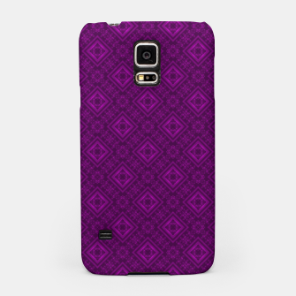 Thumbnail image of Geometric pattern purple fashionable elegant dark ornamental print Samsung Case, Live Heroes
