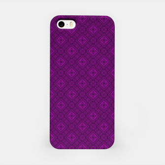 Thumbnail image of Geometric pattern purple fashionable elegant dark ornamental print iPhone Case, Live Heroes