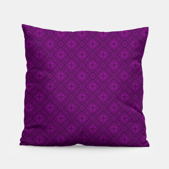 Thumbnail image of Geometric pattern purple fashionable elegant dark ornamental print Pillow, Live Heroes