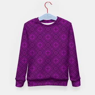 Thumbnail image of Geometric pattern purple fashionable elegant dark ornamental print Kid's sweater, Live Heroes