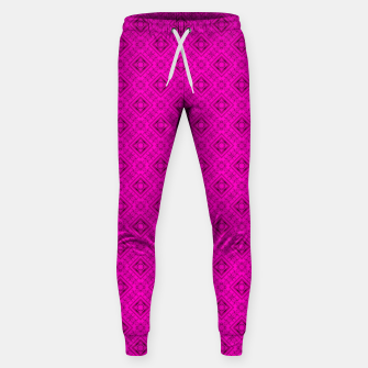 Thumbnail image of Neon bright ornamental pink pattern decoration summer  Sweatpants, Live Heroes