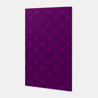 Thumbnail image of Geometric pattern purple fashionable elegant dark ornamental print Canvas, Live Heroes
