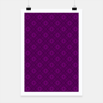 Thumbnail image of Geometric pattern purple fashionable elegant dark ornamental print Poster, Live Heroes
