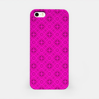 Thumbnail image of Neon bright ornamental pink pattern decoration summer  iPhone Case, Live Heroes