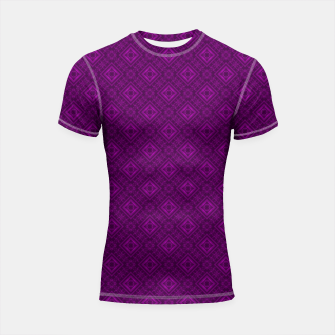 Thumbnail image of Geometric pattern purple fashionable elegant dark ornamental print Shortsleeve rashguard, Live Heroes