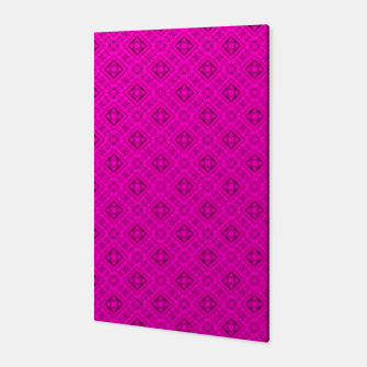 Thumbnail image of Neon bright ornamental pink pattern decoration summer  Canvas, Live Heroes