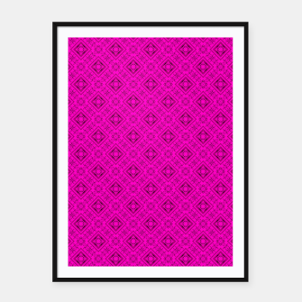 Thumbnail image of Neon bright ornamental pink pattern decoration summer  Framed poster, Live Heroes