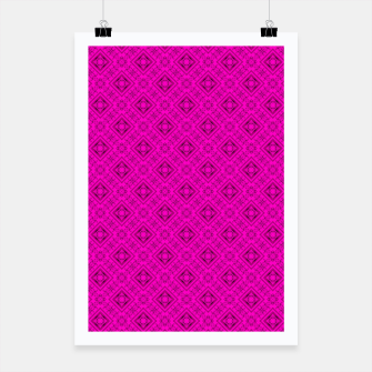 Thumbnail image of Neon bright ornamental pink pattern decoration summer  Poster, Live Heroes