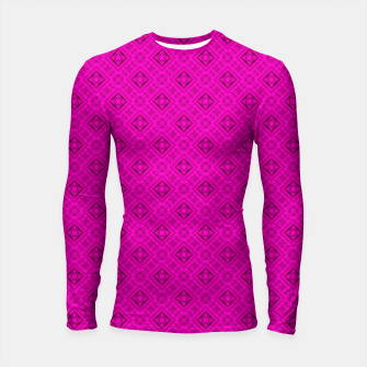 Thumbnail image of Neon bright ornamental pink pattern decoration summer  Longsleeve rashguard , Live Heroes