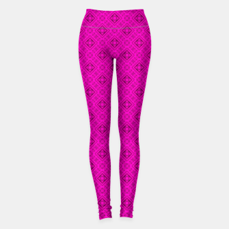 Thumbnail image of Neon bright ornamental pink pattern decoration summer  Leggings, Live Heroes