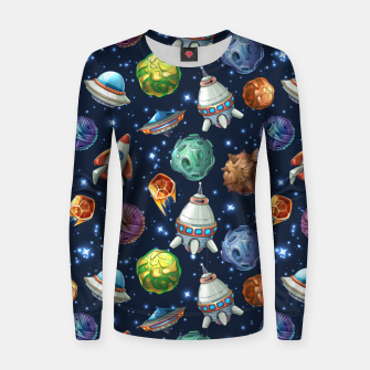 Thumbnail image of Space Planets Women sweater, Live Heroes
