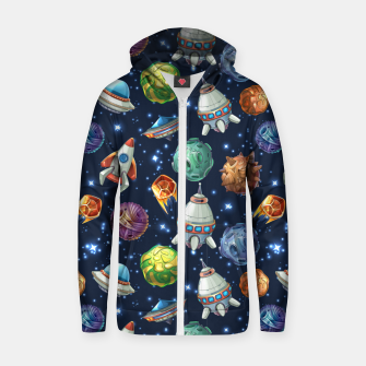 Thumbnail image of Space Planets Zip up hoodie, Live Heroes