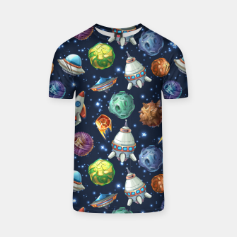 Thumbnail image of Space Planets T-shirt, Live Heroes