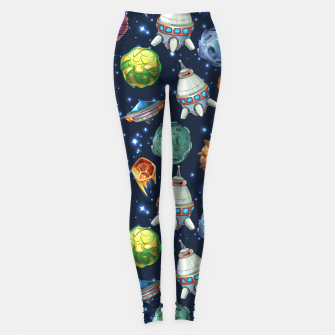 Thumbnail image of Space Planets Leggings, Live Heroes