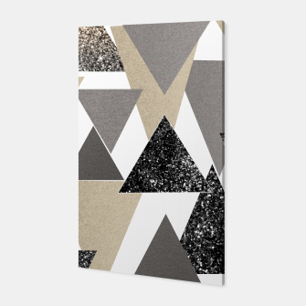 Thumbnail image of Geometric Triangles Glitter Dream #2 #minimal #decor #art Canvas, Live Heroes