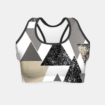 Thumbnail image of Geometric Triangles Glitter Dream #2 #minimal #decor #art Crop Top, Live Heroes