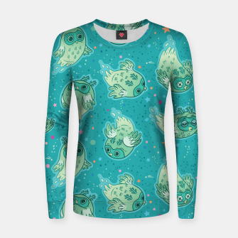 Thumbnail image of Ghost Owls Women sweater, Live Heroes
