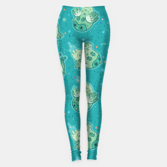 Miniatur Ghost Owls Leggings, Live Heroes