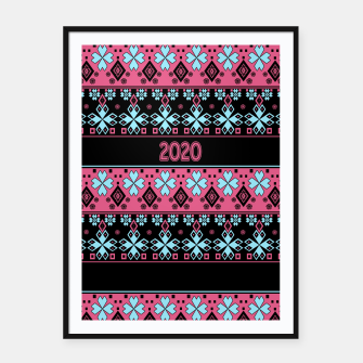 2020 , new year , ornament Framed poster thumbnail image