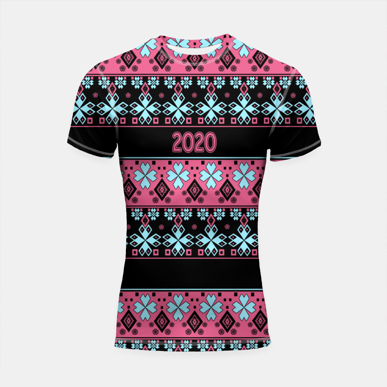 Image of 2020 , new year , ornament Shortsleeve rashguard - Live Heroes