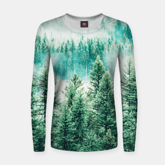 Thumbnail image of Forest and Fog Women sweater, Live Heroes