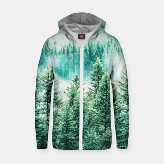 Thumbnail image of Forest and Fog Zip up hoodie, Live Heroes