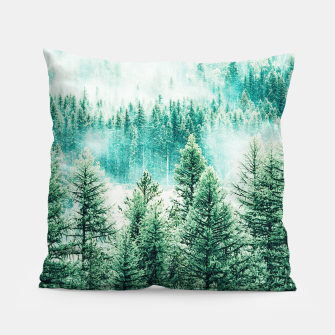 Thumbnail image of Forest and Fog Pillow, Live Heroes