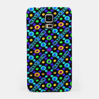 Thumbnail image of Have Fun Multicolored Text Pattern Samsung Case, Live Heroes