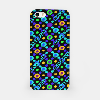 Thumbnail image of Have Fun Multicolored Text Pattern iPhone Case, Live Heroes