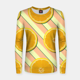 Oranges and stripes Women sweater thumbnail image