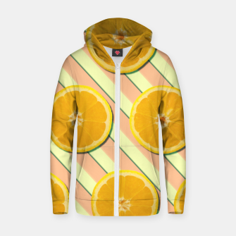 Oranges and stripes Zip up hoodie thumbnail image