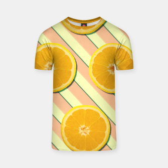 Oranges and stripes T-shirt thumbnail image
